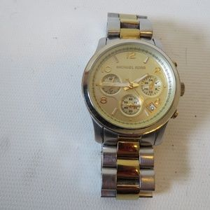 MICHAEL KORS MK 5187 TWO-TONED STEEL WATCH *
